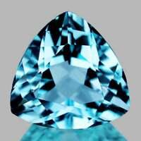 Sky Blue Topaz Trillion 10.00 mm, Flawless-VVS Clarity, Natural Loose Gemstone