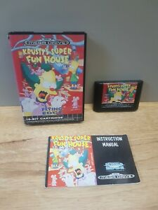 The Simpsons : Krusty's Super Fun House - Mega Drive - Boxed - PAL - With Manual