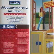Abverkauf ! Mako 888 19 Fliegengitter Rollo 125x220 cm Rahmenfarbe: braun