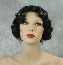 Beautiful Black Fingerwave 1920s, 1930s Curly Gatsby Roxie Flapper Wig!