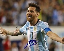 """Lionel Messi Argentine footballer 10""""x 8"""" NEW Great Signed Color PHOTO REPRINT"""