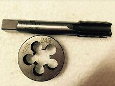 Lots 1pc Hss Machine 1116 24 Un Plug Tap And 1pc 1116 24 Un Die Threading Tool