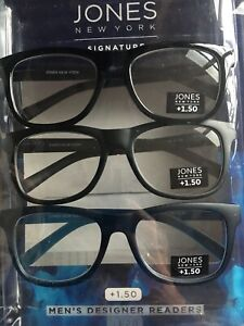 +1.50 Jones of NEW YORK Reading Glasses Super Stylish Readers +1.50 NIB