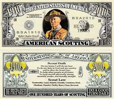 American Boy Scout Million Dollar Bill Collectible Fake Funny Money Novelty Note