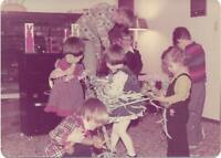 Party Kids FOUND PHOTOGRAPH Color FREE SHIPPING Original Snapshot VINTAGE 910 1