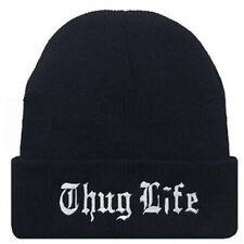 202494b4e37 Thug Life Winter Autumn Knitted Wool Cap For Men Women Beanie Hat