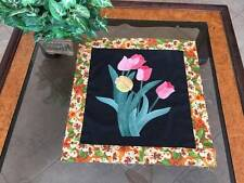 Mini Quilt Top / Wall Hanging Floral Design#0396C