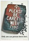 Smokey Bear Poster 1969 - Please be Careful With Fire... US Forest Service