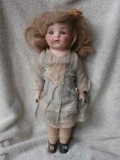 "Antique Depression Era Eih Composition & Cloth Doll 15"" All Original"