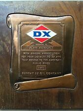 Sunray DX Oil Company of Tulsa, OK 1961 award plaque - Vintage oil find !