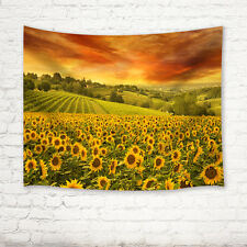 Sunflower flower & sky Tapestry Wall Hanging for Living Room Bedroom Dorm Decor
