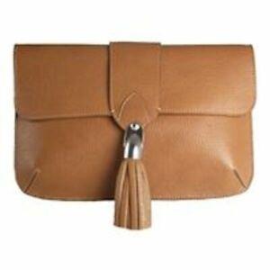 Alison Van Der Lande Jacqueline Cognac Clutch Bag -  P-HB6-CG