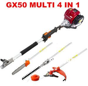 GX50 brush cutter grass 4-strokes 4 in 1 Multi trimmer lawn mower tree pruner