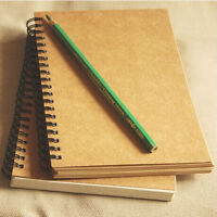 Yellow/White Paper Hardback Spiral Bound Artist Sketching Drawing Books Pads 1PC