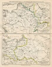B6168 Confini tra Germania, Francia e Russia - Carta geografica 1891 - Old map