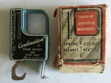 Spring Balance and Steel Rule Combination Tool  In Original Box Made in England