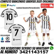 Maglia Completo Juventus Bambino 2020 2021 Juve Ronaldo Dybala Chiesa Originale