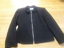 Ingenuity Woman's Size 14 Black Zip Up Jacket Made in Canada