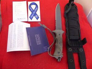 Chris Reeve NIB Green Beret serrated Flat Dark Earth GB5-1003 fixed blade knife