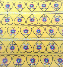 Quilting Fabric Fat 1/4 yellow hearts