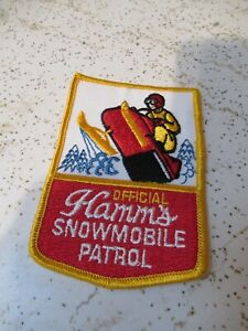 Hamm's beer 'official snowmobile' patch