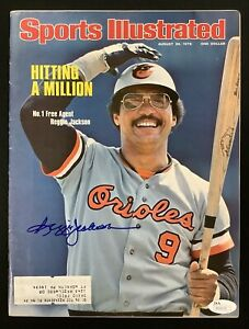 Reggie Jackson Signed Sports Illustrated Mag 8/30/76 Orioles Autograph HOF JSA