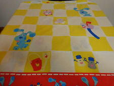 Blues Clues Bedroom Twin Flat Sheet Bed Vintage 90's