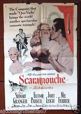 """Scaramouche {Stewart Granger} 41x27"""" Original Movie Poster R60s"""