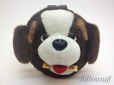 Toblerone Saint St. Bernard Dog Plush Mascot Chocolate Brown White Advertising
