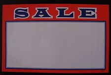 """25 SALE PROMOTION ADVERTISING SIGN CARD PRICE TAG 5 1/2"""" x 3 1/2"""""""