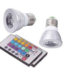 2 Pack E27 3W Magic Lighting LED Spot Light Bulb w/ IR Remote 16 Color Changing