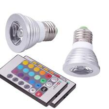 New 2 Pack E27 3W Magic Lighting LED Light Bulb & IR Remote w/ 16 Colors 5