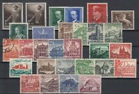X4562/ GERMANY REICH – 1939 / 1941 USED SEMI MODERN LOT – CV 190 $