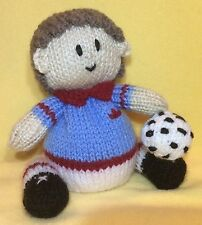 KNITTING PATTERN - Footballer chocolate orange cover or 14 cms toy