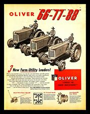1947 Oliver Tractors 66 77 88 Vintage Print Ad Farm Machinery Agriculture 1940s
