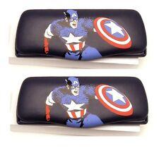 Set/Pair of 2 (two) Eyeglass Cases Captain America Marvel Comics Superhero!