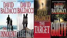 "Lot of 4 David Baldacci""Will Robie"" Hardcover Series-The Guilty-The Hit"