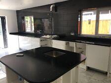 Black Flecks Quartz Kitchen Worktop   All colours available   Affordabl