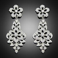 Wedding Jewelry Women Bijoux Chunky BIB Rhinestone Austria Crystal Cz Earring