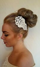 Ivory Pearl Lace Comb Bride Maid Shabby Chic Boho Vintage Weddings Ascot Races