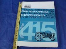 CATALOGO PARTI DI RICAMBIO ORIGINALE TRATTORE FIAT 415 TRACTOR 1965 1° EDIZIONE