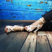 Chaussures à talons aiguilles blancs pour femme