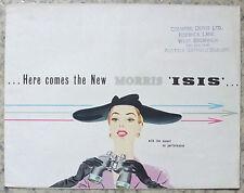MORRIS ISIS Car Sales Brochure June 1955 #H&E 5543