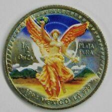 """RARE 1994 Mexico """" Libertad """" Colorized 1/2 oz .999 Silver Coin"""