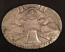 NEW- NRA  RIGHT TO KEEP & BEAR ARMS  EAGLE BELT BUCKLE  VTG. 1990 GUNS WEAPONS