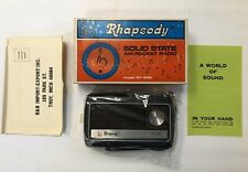 Transistor AM  Radio 1960's Rhapsody Brand Retro COOL Made in Hong , New In Box
