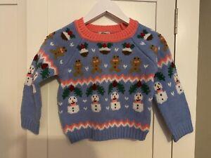 girls next christmas jumper 2-3 years