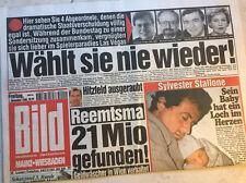 Bildzeitung vom 01.11.1996 * 20. 21. 22. Geburtstag Geschenk * Reemtsma