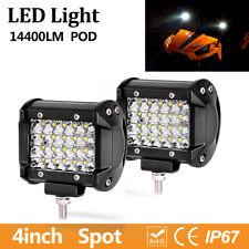 "2X Pods LED Work Light For Truck OffRoad Tractor Spot Lights 12V 24V Square 4"""