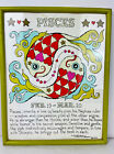 1970 Margot Johnson Rare PISCES Zodiac Pop Art Print Framed Soovia Janis